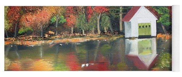 Autumn - Lake - Reflecton Yoga Mat