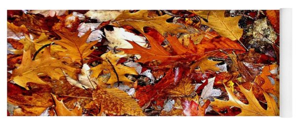 Autumn Leaves On The Ground In New Hampshire - Bright Colors Yoga Mat