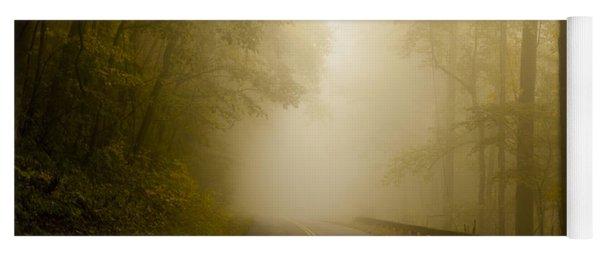 Autumn Mist Blue Ridge Parkway Yoga Mat
