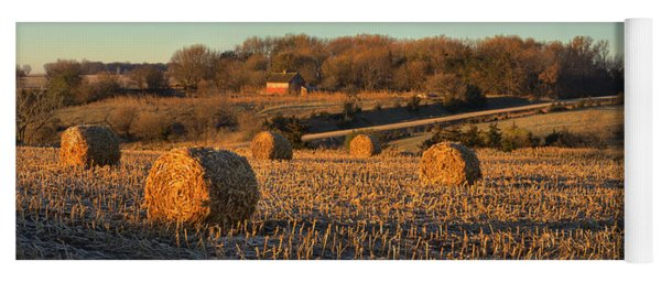 Autumn Morning Bales Yoga Mat