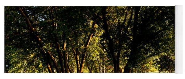 Autumn Morning Stroll Yoga Mat