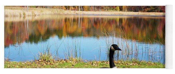 Autumn Pond Goose Yoga Mat