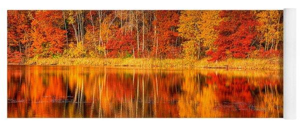 Autumn Reflections Minnesota Autumn Yoga Mat