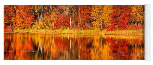 Autumn Reflections Minnesota Autumn Yoga Mat