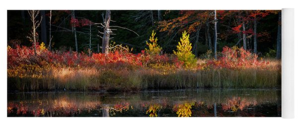 Autumn Reflections - Red Eagle Pond Yoga Mat