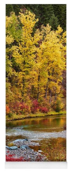 Autumn River Yoga Mat