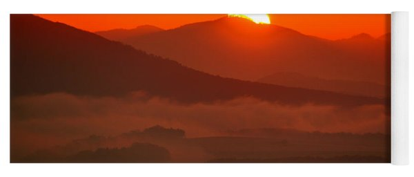 Autumn Sunrise On The Lilienstein Yoga Mat