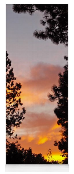 Autumn Sunset Yoga Mat