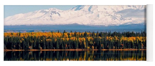 Autumn View Of Mt. Drum - Alaska Yoga Mat