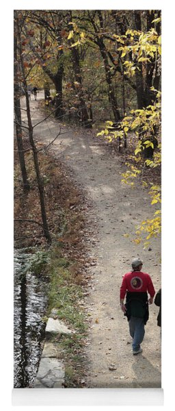Autumn Walk On The C And O Canal Towpath Yoga Mat