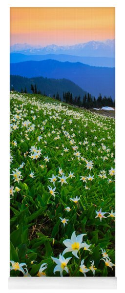 Avalanche Lily Field Yoga Mat