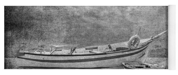 Azorean Fishing Boats B/w Yoga Mat