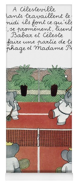 Babar The Elephant, 1930s Yoga Mat
