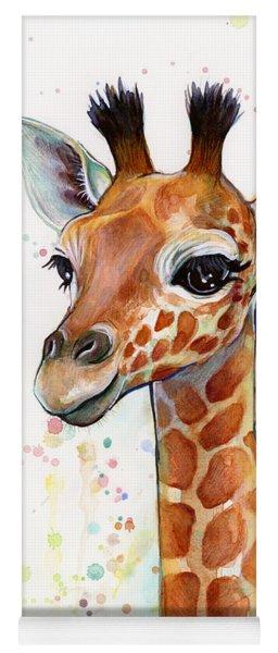Baby Giraffe Watercolor  Yoga Mat