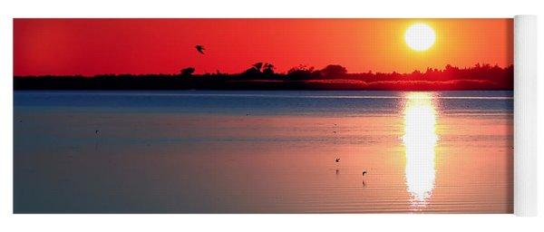 Back Bay Sunset I Yoga Mat