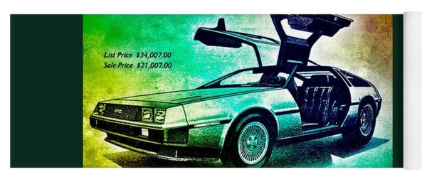 Back To The Delorean Yoga Mat