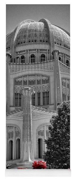 Bahai Temple Wilmette In Black And White Yoga Mat