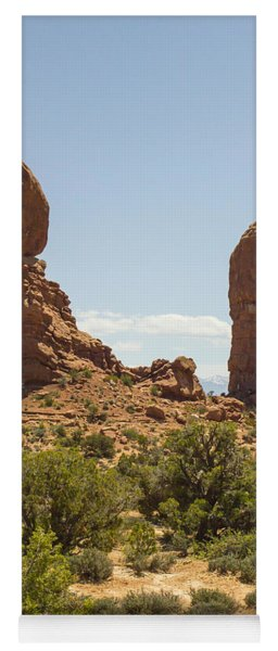 Balancing Rock In Arches Yoga Mat