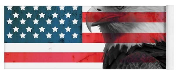 Bald Eagle American Flag Yoga Mat