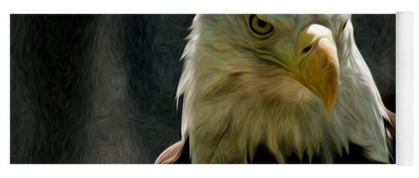 Bald Eagle Giving You That Eye Yoga Mat