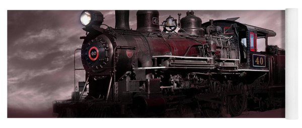 Baldwin 4-6-0 Steam Locomotive Yoga Mat