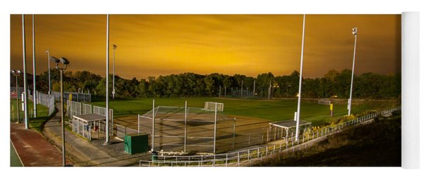 Ball Field At Night Yoga Mat