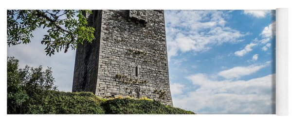Ballinalacken Castle In Ireland's County Clare Yoga Mat