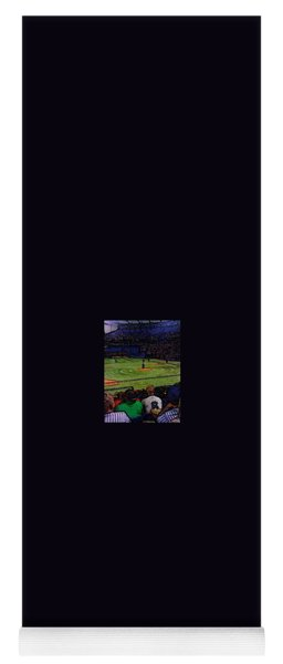 Yoga Mat featuring the photograph Ballpark Anew by Gina Bonelli