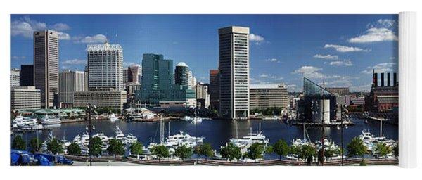 Baltimore Inner Harbor Panorama Yoga Mat