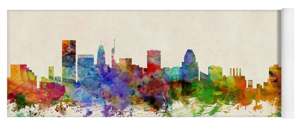 Baltimore Maryland Skyline Yoga Mat
