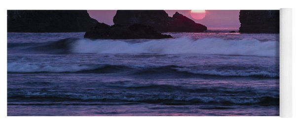 Bandon Beach Sunset Yoga Mat