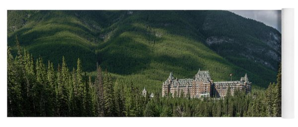 Banff Springs Hotel By Bow River Yoga Mat