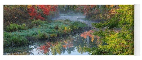 Bantam River Autumn Yoga Mat