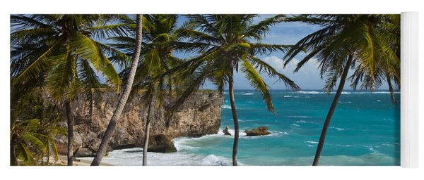 Yoga Mat featuring the photograph Barbados Beach by Brian Jannsen