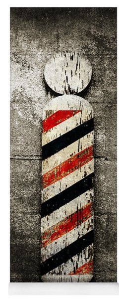 Barber Pole Selective Color Yoga Mat
