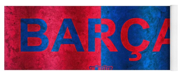 Barcelona Football Club Poster Yoga Mat