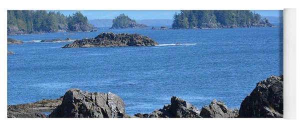 Barkley Sound And The Broken Island Group Ucluelet Bc Yoga Mat