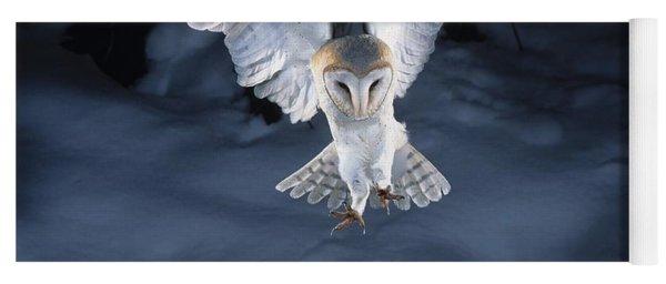 Barn Owl Landing Yoga Mat