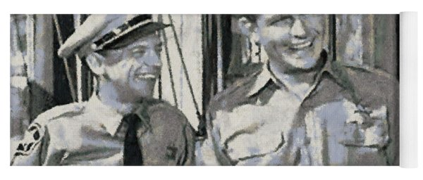 Barney Fife And Andy Taylor Yoga Mat