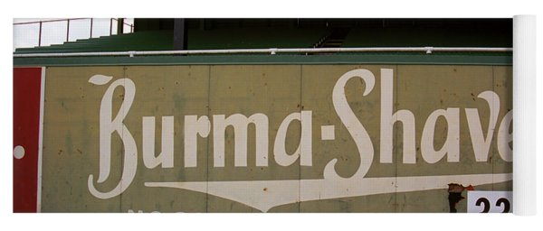 Baseball Field Burma Shave Sign Yoga Mat