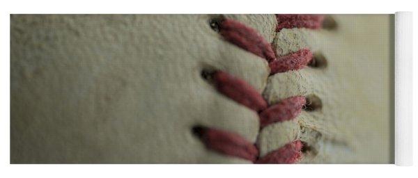 Baseball Macro Yoga Mat