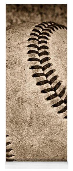 Baseball Old And Worn Yoga Mat