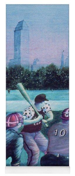 New York Central Park Baseball - Watercolor Art Yoga Mat