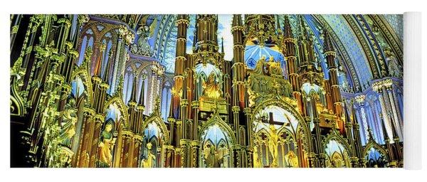 Basilica Of Notre Dame Montreal Quebec Yoga Mat
