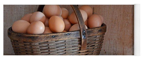 Basket Full Of Eggs Yoga Mat