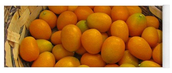 Basket Of Kumquat Fruit Art Prints Yoga Mat