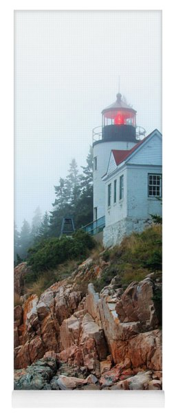 Bass Harbor Head Lighthouse Yoga Mat