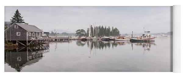 Bass Harbor In The Morning Fog Yoga Mat