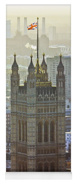 Battersea Power Station And Victoria Tower London Yoga Mat