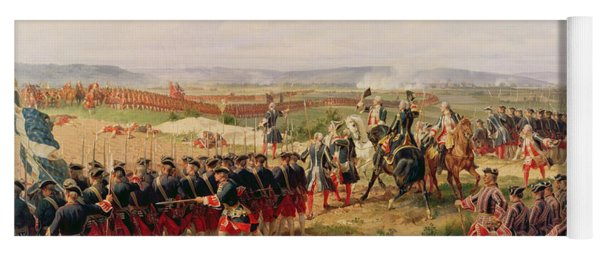 Battle Of Fontenoy, 11 May 1745 The French And Allies Confronting Each Other Yoga Mat